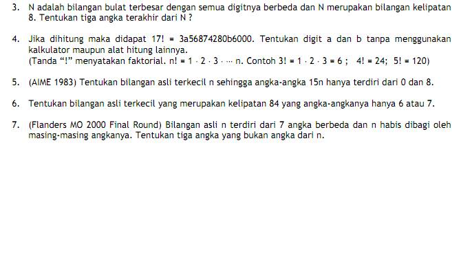 Soal Soal Latihan Olimpiade Matematika Sma 2014 Muhammad Alfa Ridzi Blog S